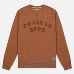 Мужская толстовка Uniformes Generale So Far So Good Aplique Crew Neck Rust Melange фото- 0