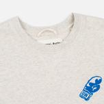 Мужская толстовка Universal Works Back Print Felpa Diagonal Sand Marl фото- 1