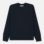 Мужская толстовка Universal Works Easy Crew Diagonal Loopback Navy фото- 0