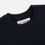Мужская толстовка Universal Works Easy Crew Diagonal Loopback Navy фото- 1