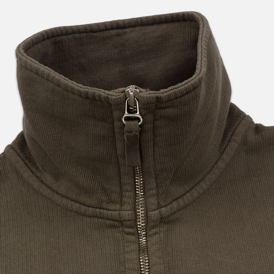 Мужская толстовка Universal Works Half Zip Dry Handle Loopback Shadow