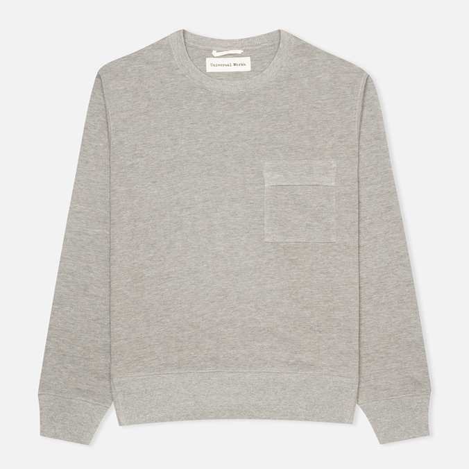 Мужская толстовка Universal Works Heskin Loopback Fleece Grey Marl