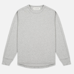 Мужская толстовка Universal Works Home Crew Luxury Jersey Grey Marl фото- 0