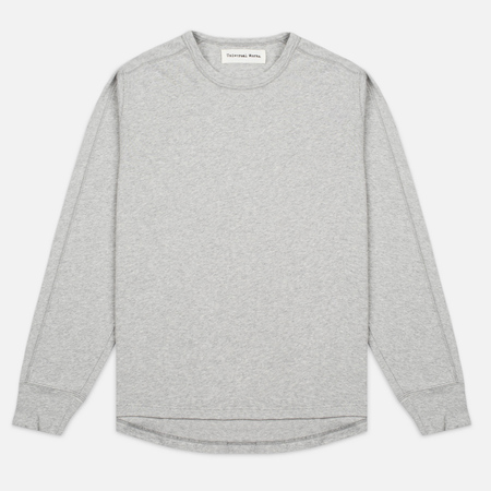 Universal Works Home Crew Luxury Jersey Men's Sweatshirt Grey Marl