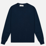 Мужская толстовка Universal Works Home Crew Luxury Jersey Navy фото- 0