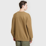 Мужская толстовка Universal Works Oversized Loopback Khaki фото- 3