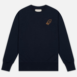 Мужская толстовка Universal Works Raglan Sport Fleece Navy фото- 0