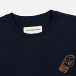 Мужская толстовка Universal Works Raglan Sport Fleece Navy фото- 1