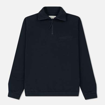 Мужская толстовка Universal Works Zip Neck Diag Loopback Navy