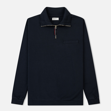 Мужская толстовка Universal Works Zip Neck Diagonal Loopback Navy