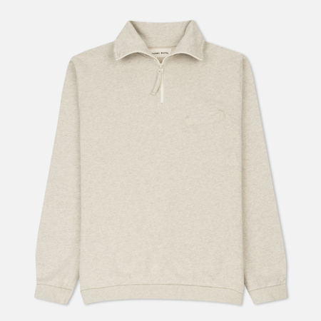 Мужская толстовка Universal Works Zip Neck Diag Loopback Sand Marl