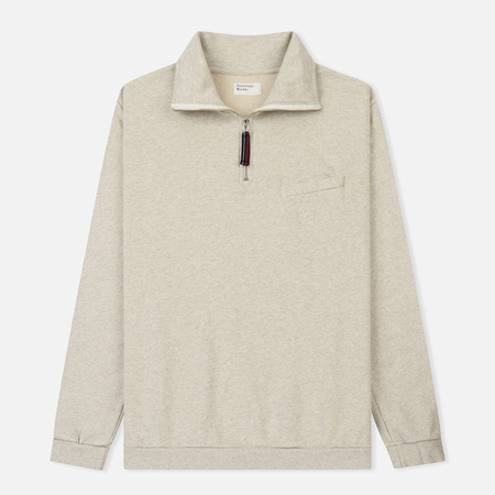 Мужская толстовка Universal Works Zip Neck Diagonal Loopback Sand Marl