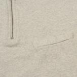 Мужская толстовка Universal Works Zip Neck Diagonal Loopback Sand Marl фото- 3