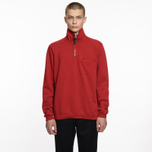 Мужская толстовка Universal Works Zip Neck Diagonal Loopback Red фото- 5