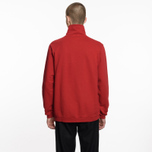 Мужская толстовка Universal Works Zip Neck Diagonal Loopback Red фото- 6