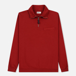 Мужская толстовка Universal Works Zip Neck Diagonal Loopback Red фото- 0