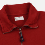 Мужская толстовка Universal Works Zip Neck Diagonal Loopback Red фото- 1