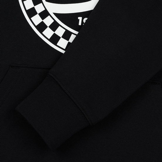 Мужская толстовка Vans Checkered Side Stripe Front Hoodie Black