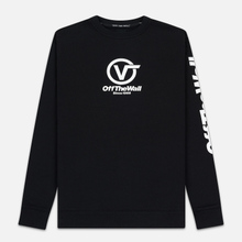 Мужская толстовка Vans Distorted Performance Crew Black фото- 0