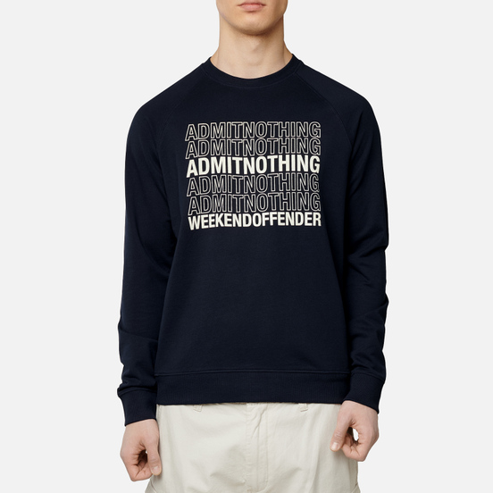 Мужская толстовка Weekend Offender Admit Nothing Navy