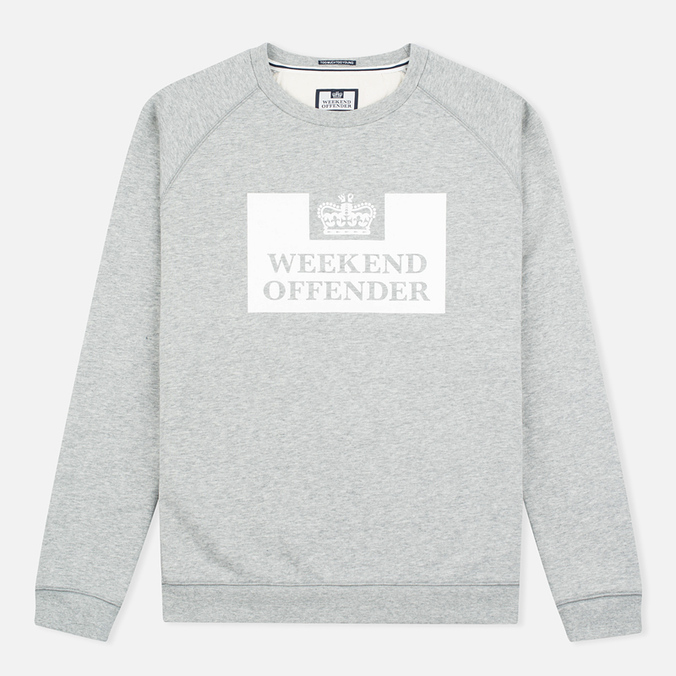 Weekend Offender Penitentiary Classic Sweatshirt Grey Marl