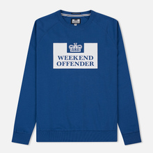 Мужская толстовка Weekend Offender Penitentiary Classic Reef Blue фото- 0