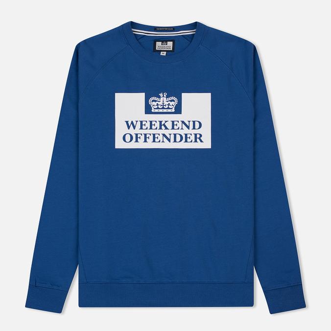 Мужская толстовка Weekend Offender Penitentiary Classic Reef Blue