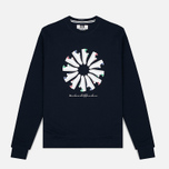 Мужская толстовка Weekend Offender Trainer Wheel Sweat Navy фото- 0