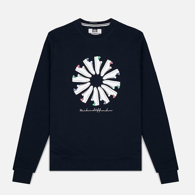 Мужская толстовка Weekend Offender Trainer Wheel Sweat Navy