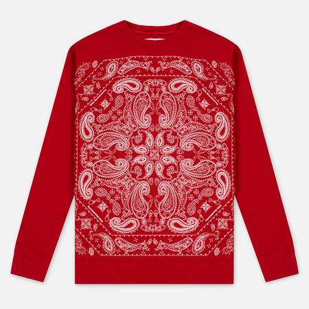 Мужская толстовка White Mountaineering Bandanna Pattern Printed Fleece Lining Red