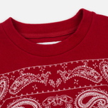 Мужская толстовка White Mountaineering Bandanna Pattern Printed Fleece Lining Red фото- 1