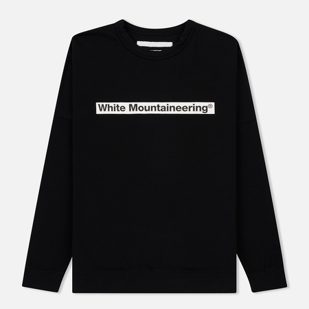 Мужская толстовка White Mountaineering Drop Shoulder Logo Black