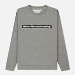 Мужская толстовка White Mountaineering Drop Shoulder Logo Grey фото- 0