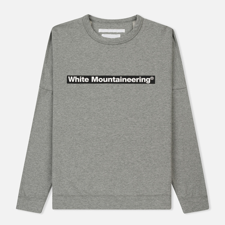 Мужская толстовка White Mountaineering Drop Shoulder Logo Grey