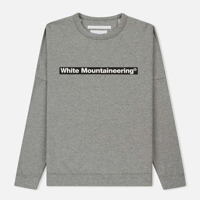 Мужская толстовка White Mountaineering Drop Shoulder Logo Grey