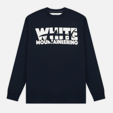 Мужская толстовка White Mountaineering Shark Printed Fleece Lining Navy