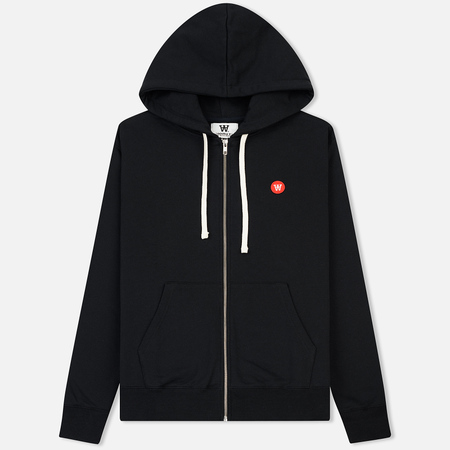 Мужская толстовка Wood Wood Dan Zip Hoodie Double A Black