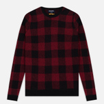 Мужская толстовка Woolrich Buffalo Check Crew Neck Red фото- 0