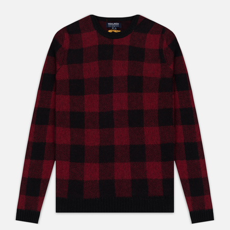 Woolrich Buffalo Check Crew Neck Men's Sweatshirt Red