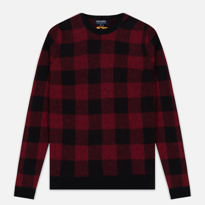 Мужская толстовка Woolrich Buffalo Check Crew Neck Red