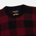 Мужская толстовка Woolrich Buffalo Check Crew Neck Red фото- 1