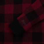 Мужская толстовка Woolrich Buffalo Check Crew Neck Red фото- 2