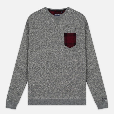 Woolrich Jaspe Crew Neck Men's Sweatshirt Grey Melange
