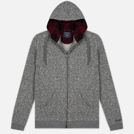 Woolrich Jaspe Full Zip Men's Hoodie Grey Melange