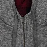 Мужская толстовка Woolrich Jaspe Full Zip Hoodie Grey Melange фото- 3