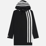 Мужская толстовка Y-3 3-Stripes Hoodie Black/White фото- 0