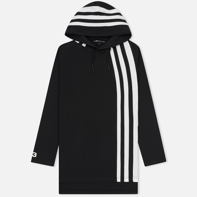 Мужская толстовка Y-3 3-Stripes Hoodie Black/White