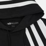 Мужская толстовка Y-3 3-Stripes Hoodie Black/White фото- 1