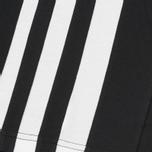 Мужская толстовка Y-3 3-Stripes Hoodie Black/White фото- 2