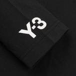 Мужская толстовка Y-3 3-Stripes Hoodie Black/White фото- 3